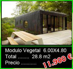 Caseta de obra vegetal 6x4,80 - Mobilhomes y Caravanas ocasión Tarragona
