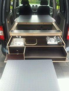 mobile schlafbox bett k hler sp le kocher stauraum a ma z b t5 in nordrhein westfalen. Black Bedroom Furniture Sets. Home Design Ideas