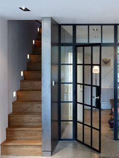 Internal Steel Door Framed Glazing.