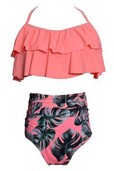 434b624a18bf7 2018 Swimwear Women High Waist Triangle Bikini Set Bandage Push-Up Swimsuit  Bathing Suit 2018 New Style