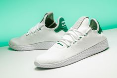 Inspired by, but not to be confused with the Stan Smith, here's the Pharrell Williams x adidas Tennis Hu.  https://www.stadiumgoods.com/tennis-hu-running-white-running-white-gr-ba7828?utm_content=buffere9119&utm_medium=social&utm_source=pinterest.com&utm_campaign=buffer  #adidas