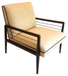 Midcentury Raffia Chair w/ Metal Rods