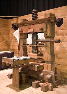 Gutenberg Press. What makes it all possible.