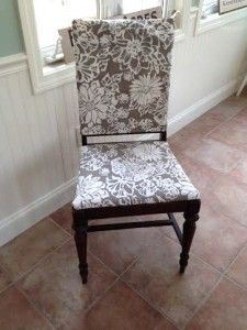No Sew Chair Makeover