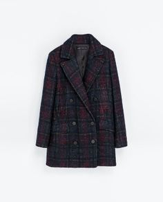 Absolutely adore and want this  CHECKED COAT WITH POCKETS from Zara