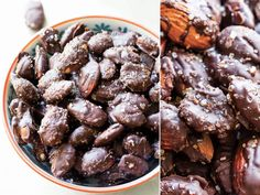 Sea Salt Almonds How to make Dark Chocolate Sea Salt Almonds-- a chocolate treat to feel good about! How to make Dark Chocolate Sea Salt Almonds-- a chocolate treat to feel good about! Healthy Desserts, Delicious Desserts, Yummy Food, Healthy Recipes, Tasty, Almond Recipes, Heart Healthy Snacks, Diabetic Desserts, Sweet Recipes