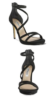 Nina Shoes, Party Shoes, Black Pumps, Luster, Addiction, Campaign, Satin, Sandals, Medium