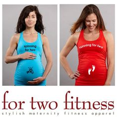For Two Fitness - Pregnancy workout wear - so cute! I'll have to remember this for next time