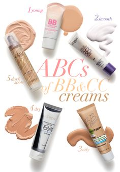 The A, B, C's of BB and CC Creams Get an A+ on beautiful skin with our easy to follow guide. BB is short for Beauty Balm. It's job is to mak...