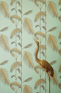 Buy Cole & Son Icons Palm Leaves Wallpaper online with Houseology's Price Promise. Full Cole & Son collection with UK & International shipping. Mint Wallpaper, Palm Leaf Wallpaper, Tropical Wallpaper, Bedroom Wallpaper, Hallway Wallpaper, Feature Wallpaper, Luxury Wallpaper, Wallpaper Ideas, Designers Guild