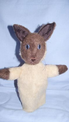 Siamese Cat Hand Puppet Toy Cat Siamese Hand by berylclairesark