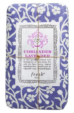 CeciStyle v145: LOVELY LATHER: For a pretty gift that pampers, combine a few unique scents from Fresh's line of small soaps, like Coriander Lavender ($12, nordstrom.com).