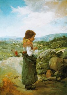 Ovidio Murguía - Na fonte; 1895.