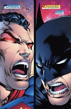 Batman Superman<<I love how Batman's just LOOKING for an excuse to just wail on him without being called out on it later.
