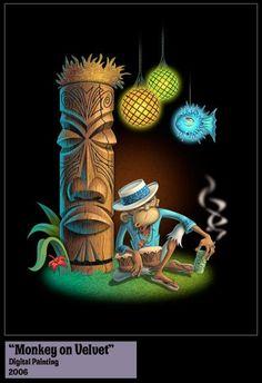 Tiki Monkey Art