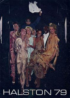 Fashion by Halston, 1979. Really epitomizes that era...very disco glam. Shiny.