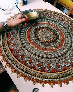 New Painted Mandalas Gilded with Gold Leaf by Artist Asmahan Rose Mosleh | Colossal