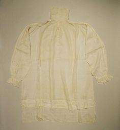 American or European linen shirt - 1795-1800