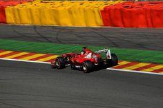 F1 #Ferrari de Fernando #Alonso en Spa ... se clasificó 9° para el Gran Premio de Bélgiuca 2013 ...