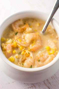 Crockpot Cajun Corn and Shrimp Chowder
