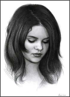 Portrait of Selena Gomez, 2011 - B pencil on A4 printer paper (8.3x11.7 in) Approx. time: 2h (I'm not sure about the photo reference I choose, and about the drawing itself... whatever. I decided to...