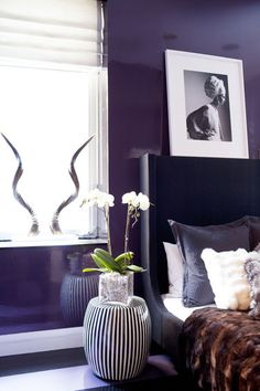 Lacquered walls in jewel tones.   http://www.domainehome.com/chelsea-modern-apartment-ash-design/