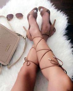 girl hair eyes make up lips fashion style shoes high heels