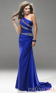 Long Blue Chiffon Evening Gown Bridesmaid Dresses Prom Formal Party Ball Gowns