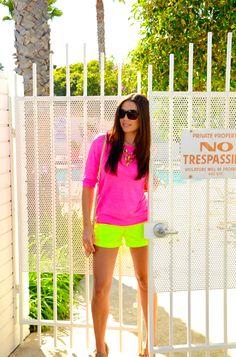 Neon pink & green. Great summer combo