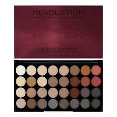 Makeup Revolution Ultra 32 Shade Eyeshadow Palette - Flawless 2  - Click to view a larger image