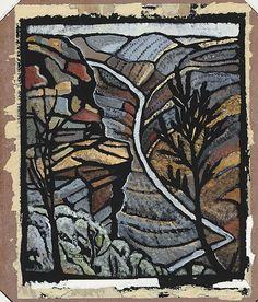 Shoalhaven Gorge NSW by Australian artist Margaret Preston Margaret Rose, Margaret Preston, Australian Painting, Australian Artists, Landscape Prints, Landscape Paintings, Landscapes, Watercolor Landscape, Watercolour