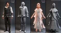 Artist: Nicolas Collings Character Models for Assasins's Creed 2