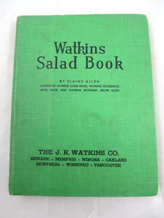 Watkins Salad CookBook 1946 Green Cover by BonniesVintageAttic #vintagecookbook