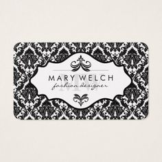 Elegant Damask with Monogram (appointment card) Business Card - monogram gifts unique custom diy personalize
