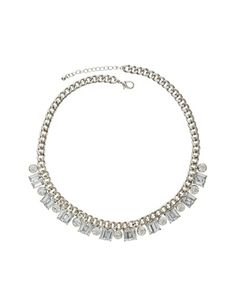 Faux Diamond Chain Necklace from THELIMITED.com