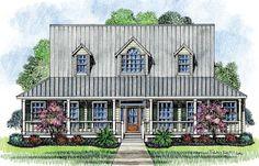 Farmhouse Cottage - 14169KB   1st Floor Master Suite, Corner Lot, Country, Farmhouse, PDF, Traditional, Wrap Around Porch   Architectural Designs