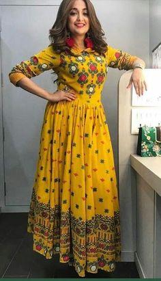 Bollywood Designer Long Anarkali Kurtis from The value store Salwar Designs, Kurta Designs Women, Kurti Designs Party Wear, Blouse Designs, Indian Designer Outfits, Indian Outfits, Designer Dresses, Indian Fashion Trends, Indian Gowns Dresses