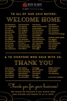 Thank you for a fantastic 2014 | Red Barn Real Estate