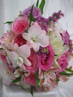 Mixed Pink Bridal Bouquet
