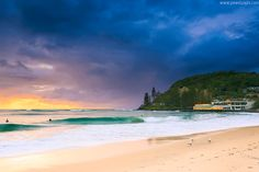 Burleigh Heads Beach has been rated number 1 beach in Australia, due to surf, village atmosphere & views by tripadvisor. Swimming, body surfing, body boarding, sun-baking and of course surfing on the iconic pointbreak.