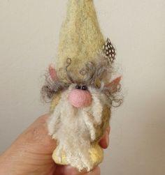 Gnome doll Fairy garden OOAK Fibre Art