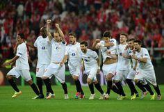 Tanda de penaltis que proclama al Sevilla campeón de la Europa League 2014