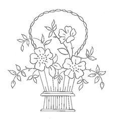 country basket 2 - embroidery pattern