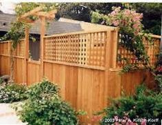 Privacy...just add lattice to the top of the fence