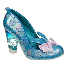 Irregular Choice Bunnie Love Heeled Shoes (Blue/Pink)