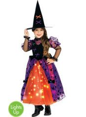 Toddler Girls Light-Up Twinkler Witch Costume
