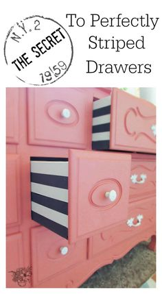 The Secret to Perfectly Striped Drawers - Pocketful of Posies(Diy Vanity Plans)