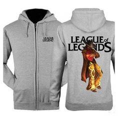 League of Legends fleece zip hoodies for men Twisted Fate sweatshirts design