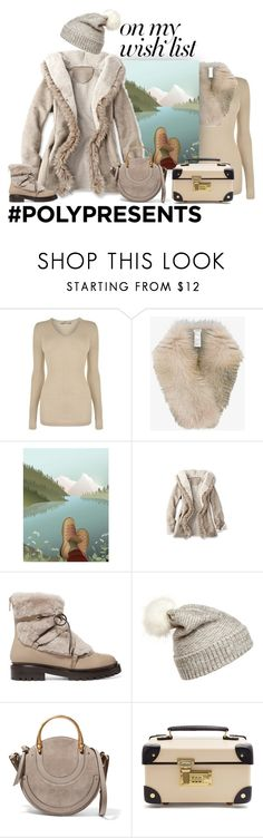 """#PolyPresents: Wish List"" by patricia-dimmick ❤ liked on Polyvore featuring Vince, Inverni, Jimmy Choo, WithChic, Chloé, Globe-Trotter, contestentry, wintercoat, fauxfur and cashmere"