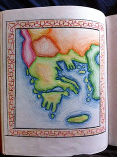 Klas 5, De Grieken, landkaart van Griekenland